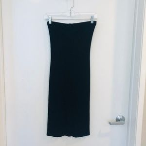 Black Strapless Tube Dress